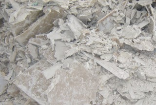 Gypsum waste